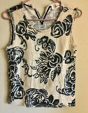 NWOT Anthropologie JUCCA SEQUIN TOP SIZE 7 Made in Italy