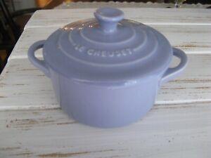 Le Creuset Mini Round Cocotte Lavender 8 oz NEW Condition RARE Color!