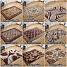 LARGE MODERN CLASSIC BEIGE BROWN ABSTRACT QUALITY LOW COST OFFER SALE RUG RUNNER