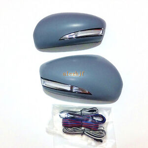 LED Rear-view Mirror Lights + Cover,Turn Signals DRL Ground Lamp for Mazda CX-5