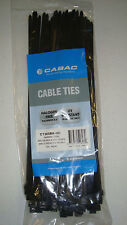 100 Cabac Cable Ties CT365BK-HD 368mmX7.6mm Heavy Duty $10 postage for bulk buys