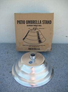Vintage NOS Aluminum Patio Umbrella Stand S-32 USA Made