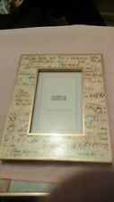 HEAVY MARKS AND SPENCER HAND PAINTED 4 X 6 INCH PICTURE/PHOTO FRAME