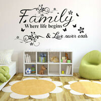 Family Flowers Pattern Home Decors Decal Sticker Home Decoration for Living Room