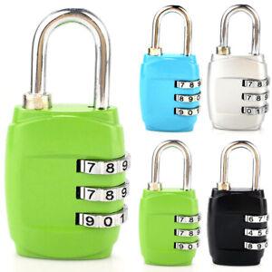 Security Digit 3 Combination Suitcase Luggage Code Padlock Lock Rese Bag Travel