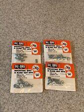 Vintage New RC R/C NOS DU-BRO 125 Mounting Bolts & Blind Nut Sets Lot Of 4