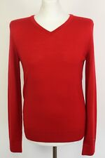 TOMMY HILFIGER Mens 100% PREMIUM WOOL Red JUMPER - Size Small - S