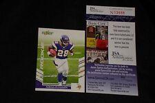 ADRIAN PETERSON 2007 SCORE ROOKIE SIGNED AUTOGRAPHED CARD #341 VIKINGS JSA CERT.