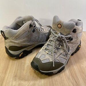 Merrell Mesa Ventilator 2 II Taupe Womens 10 M Suede Hiking Shoe Mid Top Vibram