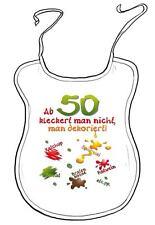 """Latz f. Erwachsene Geburtstagsgeschenk """"Ab 50 kleckert man nicht man dekoriert"""""""