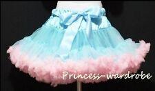Blue Light Pink Pettiskirt Party Skirt Pageant Dance Dress For Teen Adult 8-10Y