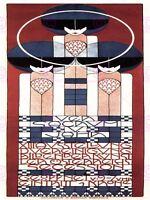 Exhibition Secession Artists Klimt Vienna Austria Vintage Ad Canvas Art Print