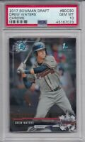 DREW WATERS ROOKIE 2017 Bowman Chrome Draft BDC90 PSA 10 GEM MINT Atlanta Braves