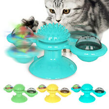 Cat Toys Interactive Cat Puzzle Toy With Brush Wall Mounted Tooth Clean Catnip