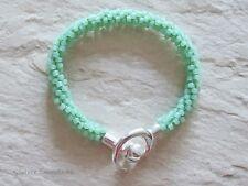 Helado Pastel Mint Green Kumihimo semilla grano de moda Pulsera Regalo Para Ella