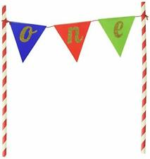 """Creative Converting 324532 Banner One Cake Topper Party Supplies, 9"""" x 9"""","""