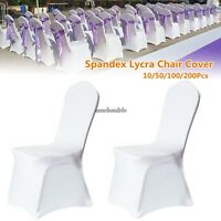 Universal 100 pcs/ Lots White Polyester Spandex Wedding Chair Covers--Wholesale@
