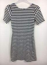 French Connection Black & White Stripe Short Sleeve Mini Dress Size 8 - B20