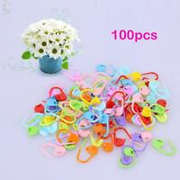 Knitting Tools Plastic Clip Hook Mixed Color Crochet Markers Accessory 100pcs