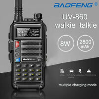 BaoFeng UV-860 8W Dual Band Walkie Talkie 128CH CTCSS DCS Long Range 2 Way Radio