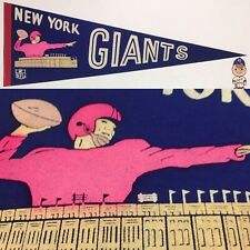 RARE Vintage 1960s New York Giants Vintage Pennant NFL Football 9x27 NY