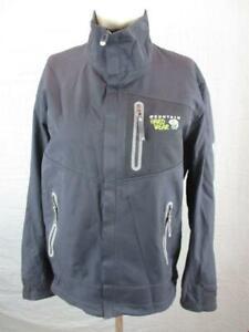 Mountain Hardwear Size M Mens Black Full Zip Conduit Softshell Jacket T375