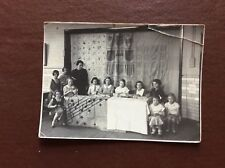 H1f Photograph Old Undated Children Sewing Sunday School Church Creased Corner