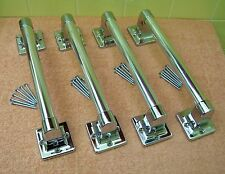 "Four NEW 9"" DONNER Chrome Towel/Grab Bars Exposed Screws (24 Screws Included)"