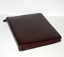 Monarch Folio Size Burgundy Leather 15 Rings Planner Binder Franklin Day Timer