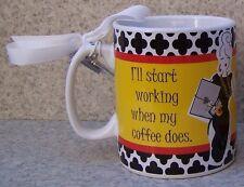 Jumbo Coffee Mug I'll Start Working When Coffee Does NEW 30 ounce cup w gift box