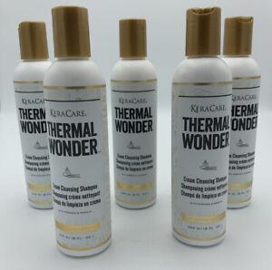 Lot Of 5 Keracare Thermal Wonder Cream Cleansing Shampoo  8 oz Ea