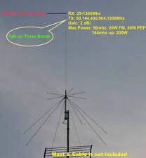 Harvest D130 25-1300mhz Super Discone Wide Band Base Antenna