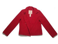 ABERCROMBIE & FITCH Women's Hip Double Breasted Winter Red Coat Size L Lined
