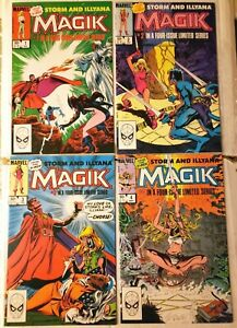 MAGIK 1 2 3 4 SET COMICS STORM AND ILLYANA NIGHTCRAWLER FUN 1983 CLAREMONT FRENZ