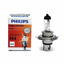 H4 Philips Rally off-road 100/90W 12V Lampadine Fari Alogeni 12569RAC1 Single