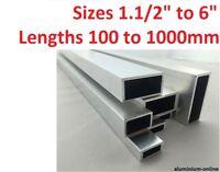 "ALUMINIUM RECTANGULAR BOX SECTION 1.1/2"" 2 inch 2.1/2"" 3"" 4 inch 5"" 6 inch"