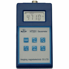 HT Digital Gaussmeter with PEAK HOLD -  Can Display Gauss or Tesla  DC AC Meter