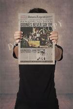 Goonies Newspaper  A3 Poster