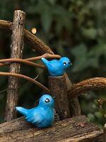Miniature Dollhouse FAIRY GARDEN Accessories ~ Set of 2 TINY Mini Blue Birds