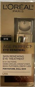 L'Oréal Paris Age Perfect Eye Renewal   LHA Skin Renewing Eye Treatment  5 in 1