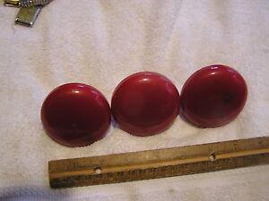 Vintage Lot of 3 Red Bakelite Door Knobs