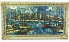 Original Venice Italy Oil Painting Framed Signed Michaux Mid Century Impression