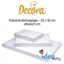 POLISTIROLO RETTANGOLARE 20x30 x h 5 Decora attrezzatura torta cake designe