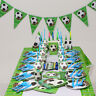 Football Game Soccer Birthday Party Supplies Tableware Plates Balloon Decoration