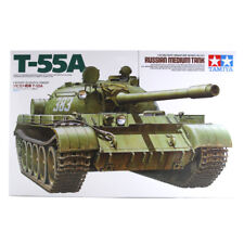 Tamiya Russian Medium Tank T-55A Model Set Scale 1:35 35257 Model Kit NEW