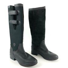 Ariat Womens Arctic Tall Waterproof Boots Black Hook Loop Cuban Heel Leather 10B