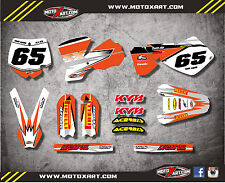 Custom graphics full kit SHOCKWAVE STYLE stickers to fit KTM 65 2002 - 2008