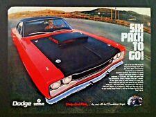 "1969 Dodge Super Bee NHRA Coronet Six Pack ""Ready to Display"" car ad 1968 1970"