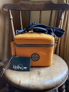 Kipling Sun Orange 'Most Beautiful' Vanity Toiletry Case Bag Lovely Condition