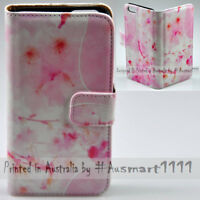 For Sony Xperia Series - Sakura Pink Theme Print Wallet Mobile Phone Case Cover